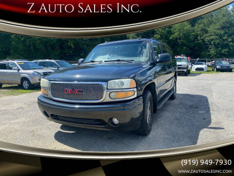 2003 GMC Yukon XL for sale at Z Auto Sales Inc. in Rocky Mount NC