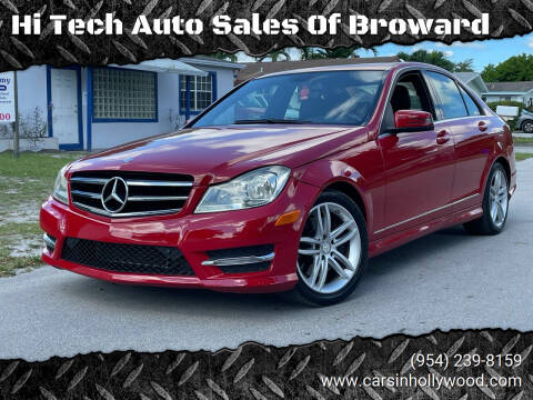 2014 Mercedes-Benz C-Class for sale at Hi Tech Auto Sales Of Broward in Hollywood FL