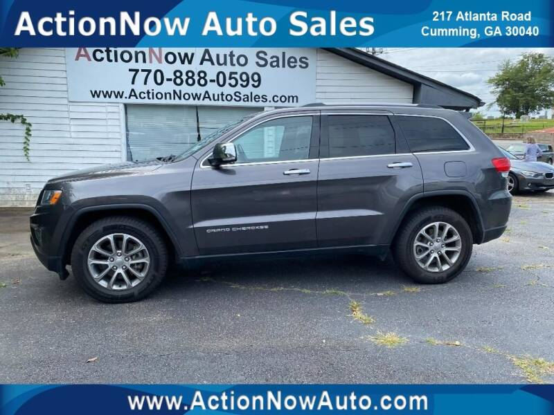 2014 Jeep Grand Cherokee for sale at ACTION NOW AUTO SALES in Cumming GA