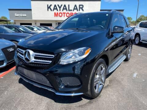 2017 Mercedes-Benz GLE for sale at KAYALAR MOTORS in Houston TX