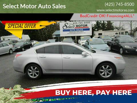 2012 Acura TL for sale at Select Motor Auto Sales in Lynnwood WA