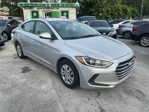 2017 Hyundai Elantra for sale at D & P OF MIAMI CORP in Miami FL