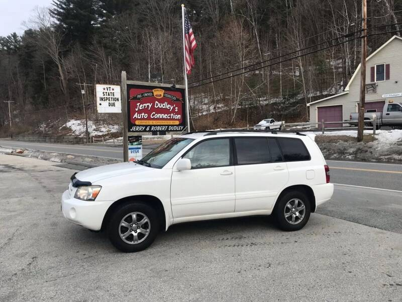 2006 Toyota Highlander for sale at Jerry Dudley's Auto Connection in Barre VT