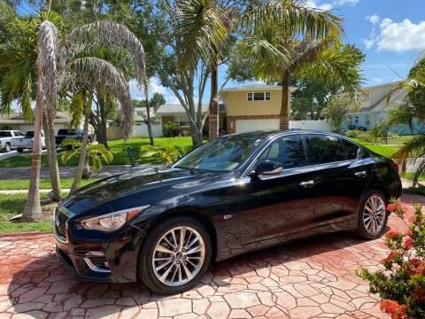 2018 Infiniti Q50 for sale at ONYX AUTOMOTIVE, LLC in Largo FL