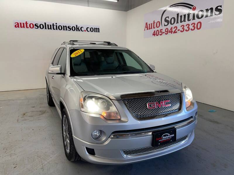 2012 GMC Acadia for sale at Auto Solutions in Warr Acres OK
