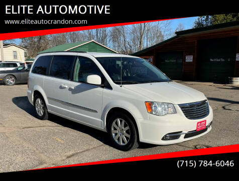 2013 Chrysler Town and Country for sale at ELITE AUTOMOTIVE in Crandon WI