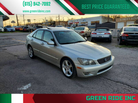 2005 Lexus IS 300 for sale at Green Ride Inc in Nashville TN