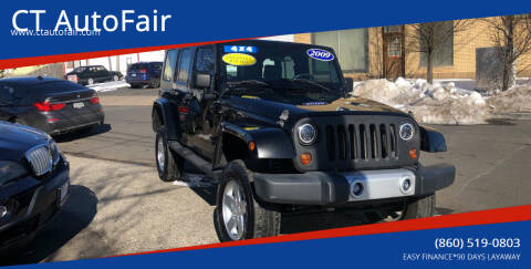 2009 Jeep Wrangler Unlimited for sale at CT AutoFair in West Hartford CT