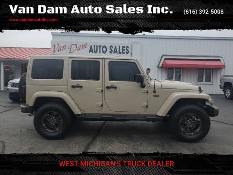 2016 Jeep Wrangler Unlimited for sale at Van Dam Auto Sales Inc. in Holland MI