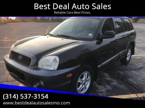 2002 Hyundai Santa Fe for sale at Best Deal Auto Sales in Saint Charles MO