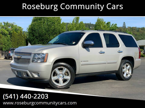 2008 Chevrolet Tahoe for sale at Roseburg Community Cars in Roseburg OR