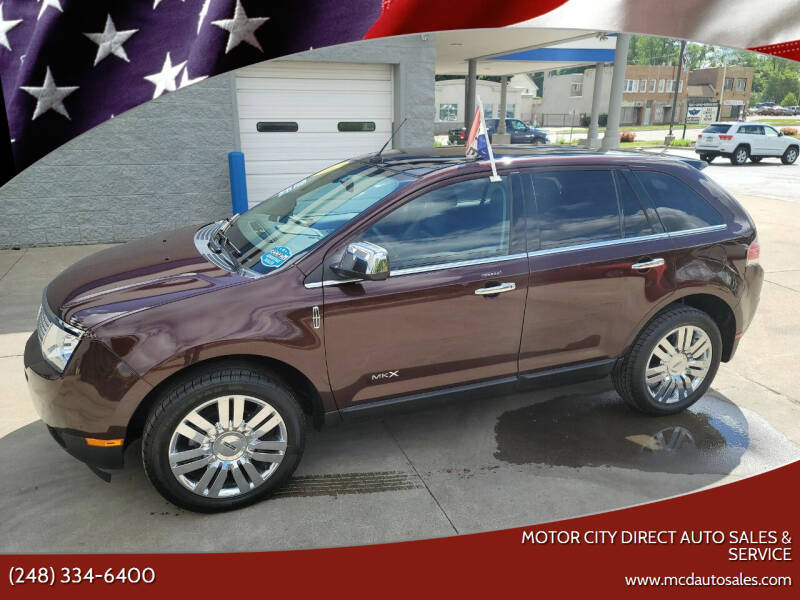 2010 Lincoln MKX for sale at Motor City Direct Auto Sales & Service in Pontiac MI