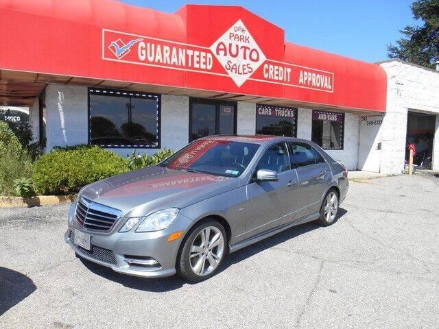 2012 Mercedes-Benz E-Class for sale at Oak Park Auto Sales in Oak Park MI