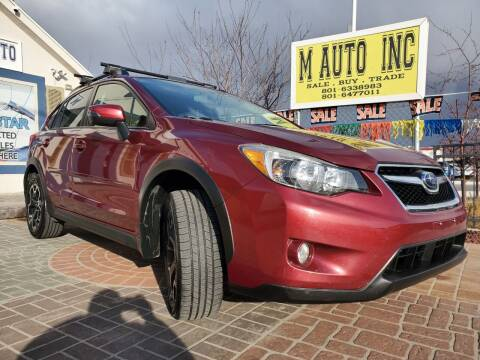 2015 Subaru XV Crosstrek for sale at M AUTO, INC in Millcreek UT