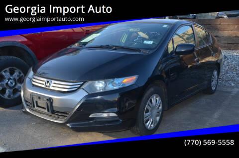 2010 Honda Insight for sale at Georgia Import Auto in Alpharetta GA
