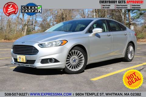 2013 Ford Fusion for sale at Auto Sales Express in Whitman MA