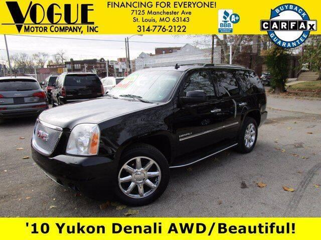 2010 GMC Yukon for sale at Vogue Motor Company Inc in Saint Louis MO