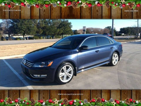 2015 Volkswagen Passat for sale at Solo Auto Group in Mckinney TX