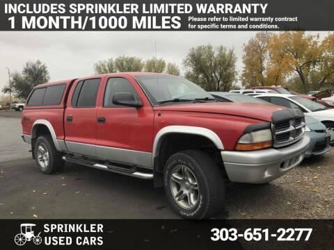 2004 Dodge Dakota for sale at Sprinkler Used Cars in Longmont CO