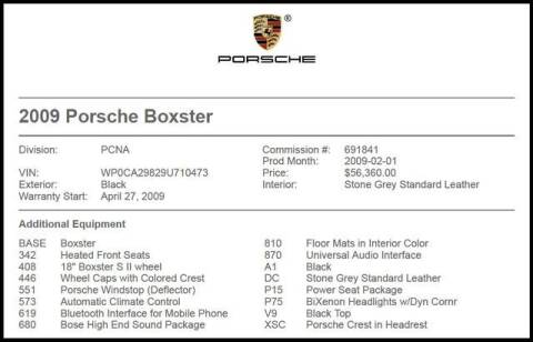 2009 Porsche Boxster for sale at RAC Performance in Carrollton TX