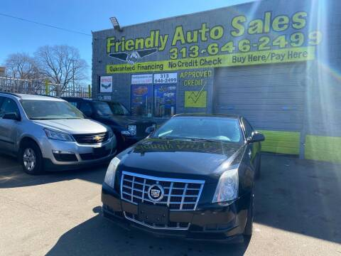 2014 Cadillac CTS for sale at Friendly Auto Sales in Detroit MI