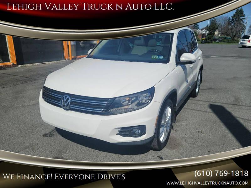 2013 Volkswagen Tiguan for sale at Lehigh Valley Truck n Auto LLC. in Schnecksville PA