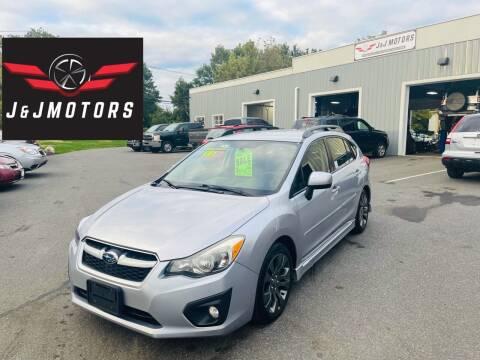 2013 Subaru Impreza for sale at J & J MOTORS in New Milford CT