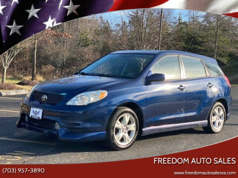2003 Toyota Matrix for sale at Freedom Auto Sales in Chantilly VA