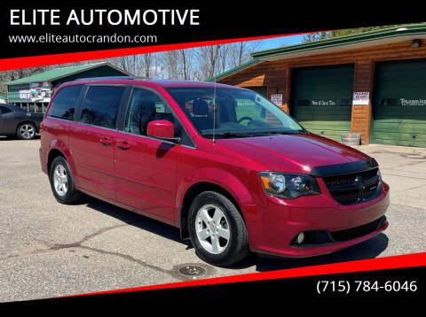 2011 Dodge Grand Caravan for sale at ELITE AUTOMOTIVE in Crandon WI