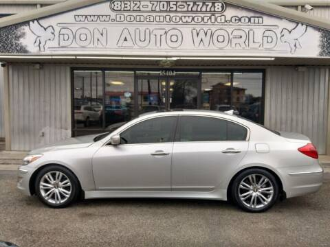 2013 Hyundai Genesis for sale at Don Auto World in Houston TX