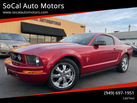 2007 Ford Mustang for sale at SoCal Auto Motors in Costa Mesa CA