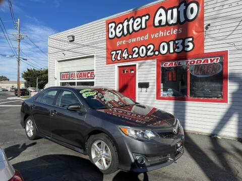 2014 Toyota Camry for sale at Better Auto in Dartmouth MA