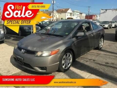 2006 Honda Civic for sale at SUNSHINE AUTO SALES LLC in Paterson NJ