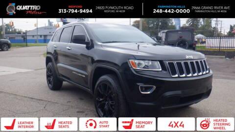 2014 Jeep Grand Cherokee for sale at Quattro Motors 2 - 1 in Redford MI