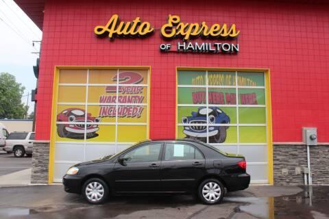 2008 Toyota Corolla for sale at AUTO EXPRESS OF HAMILTON LLC in Hamilton OH