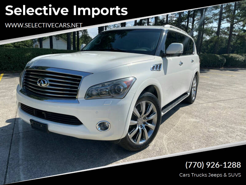 2011 Infiniti QX56 for sale at Selective Imports in Woodstock GA