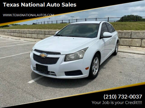 2011 Chevrolet Cruze for sale at Texas National Auto Sales in San Antonio TX