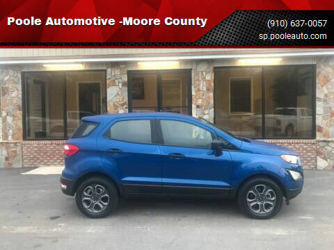 2018 Ford EcoSport for sale at Poole Automotive in Laurinburg NC