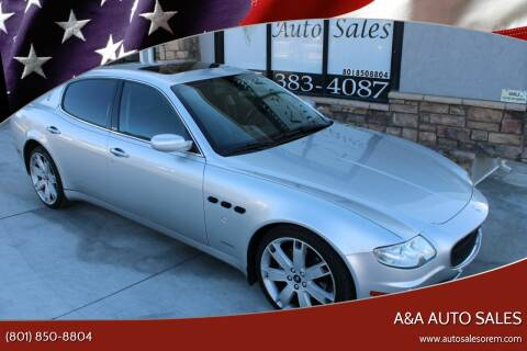 2006 Maserati Quattroporte for sale at A&A Auto Sales in Orem UT
