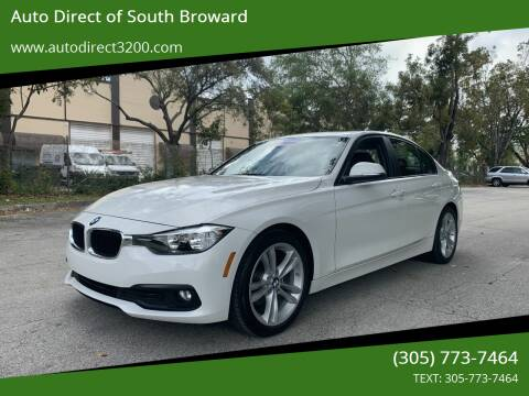 2016 BMW 3 Series for sale at Auto Direct of South Broward in Miramar FL