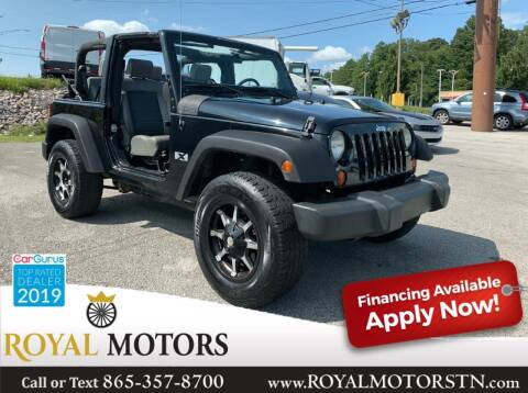 2009 Jeep Wrangler for sale at ROYAL MOTORS LLC in Knoxville TN