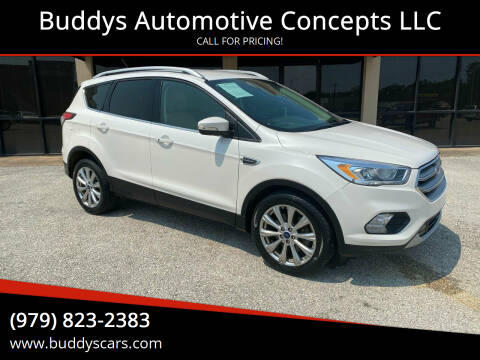 2017 Ford Escape for sale at Buddys Automotive Concepts LLC in Bryan TX