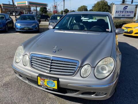 2006 Mercedes-Benz E-Class for sale at Auto Union LLC in Virginia Beach VA