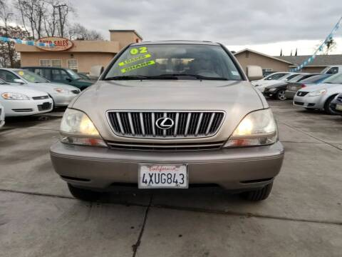 2002 Lexus RX 300 for sale at Golden Gate Auto Sales in Stockton CA