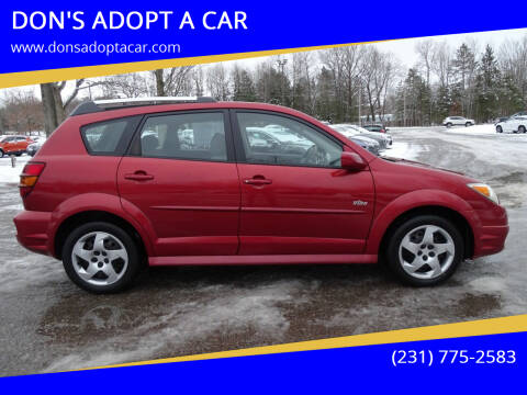 2008 Pontiac Vibe for sale at DON'S ADOPT A CAR in Cadillac MI