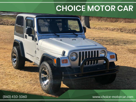 2004 Jeep Wrangler for sale at Choice Motor Car in Plainville CT