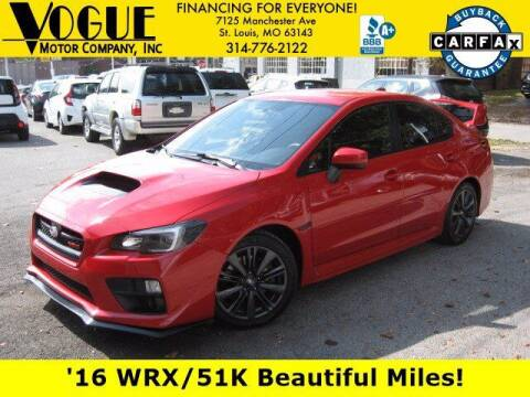 2016 Subaru WRX for sale at Vogue Motor Company Inc in Saint Louis MO