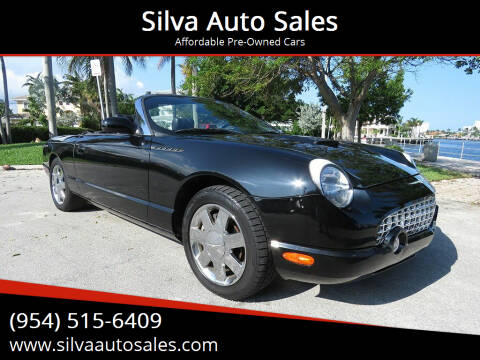 2002 Ford Thunderbird for sale at Silva Auto Sales in Pompano Beach FL
