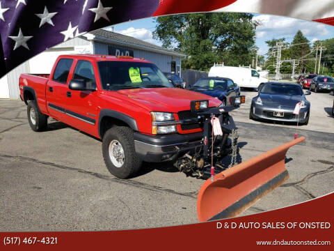 2003 Chevrolet Silverado 1500HD for sale at D & D Auto Sales Of Onsted in Onsted   Brooklyn MI