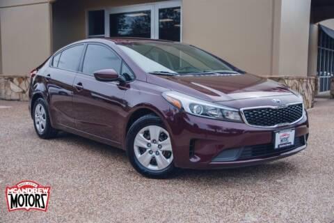 2017 Kia Forte for sale at Mcandrew Motors in Arlington TX